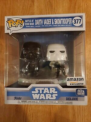 Funko POP! Star Wars Battle at Echo Base - Darth Vader & Snowtrooper IN HAND!!!