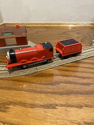 2013 Thomas & Friends James Mattel Trackmaster Motorized Train and Tender Works!