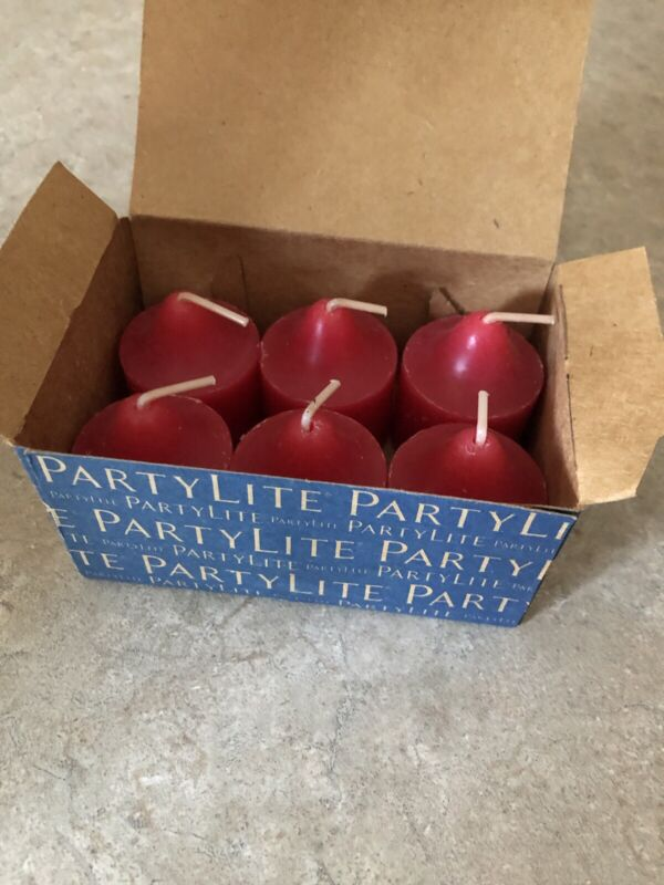 Partylite Winter Berries Votives lot of 6 NEW!