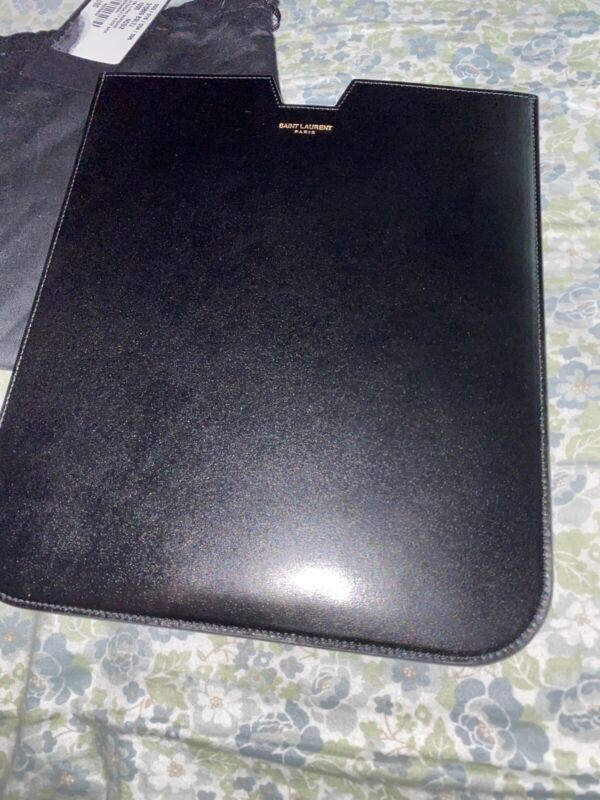 Saint Laurent Black Leather IPad Cover