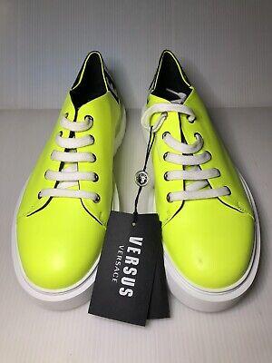 VERSACE VERSUS Fluorescent Leather Sneakers 40EU-8US-$342-READ!
