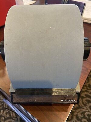 Vintage Gray Metal Rolodex Model 2254d Made In U.s.a. No Key.
