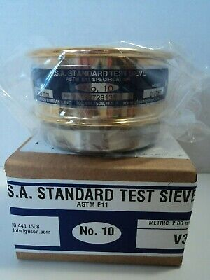 Gilson Usa Standard Test Sieve No.10 2.00mminches 0.0787sn 192728135