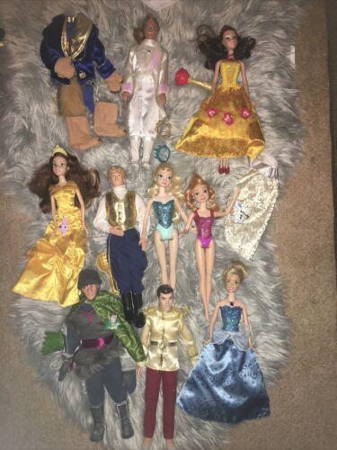 Lot Of Disney Prince princess Barbie Dolls  - $34.99
