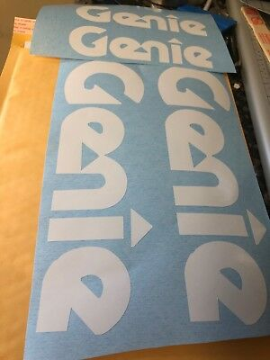 Genie Scissor Lift Decal White Vinyl Decal Genie Decal 12 X 3 Inches