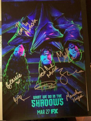 WHAT WE DO IN THE SHADOWS SIGNED PHOTO 12X18 NATASIA DEMETRIOU AUTOGRAPH SDCC