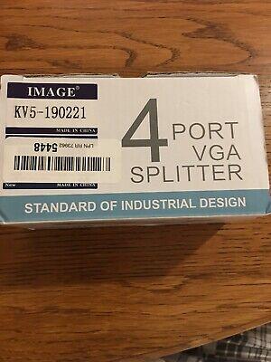IMAGE 1 PC To 4 Monitors Splitter Box VGA/SVGA LCD CRT 4 Port Video Gray Crt Monitor