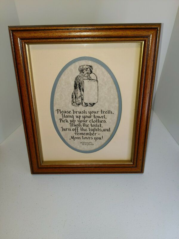 Suggestions by Mom from Calligraphy 88 by Temple 8x10 picture with frame