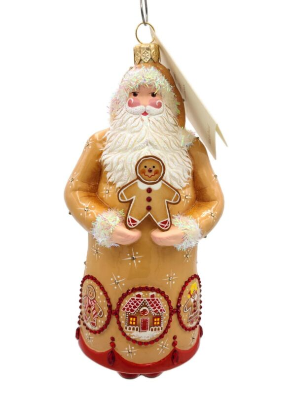 Patricia Breen Bentley Claus Gingerbread Cookies Snowflakes Christmas Ornament