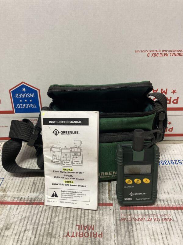 NICE!!! Greenlee Fiber Optic Power Meter 560XL ED4U 8238