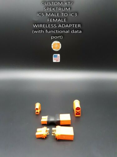 Spektrum IC5 Male to IC3 Female Wireless Adapter (with functional data port)