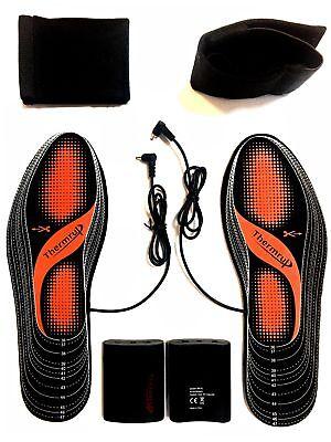 35-46 4 Stufen Beheizbare Einlegesohlen Thermosohlen Schuhheizung mit Akku Gr