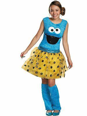 New 123 Sesame Street Cookie Monster Adult Costume Large 10-12