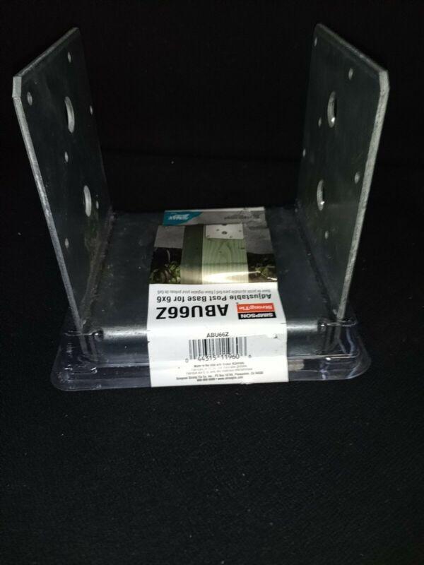 2pk SIMPSON STRONG-TIE POST BASE ZMAX ABU66Z Galvanized Adjustable Standoff 6x6