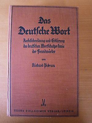 Das Deutsche Wort - Richard Perkun - 1933  - Buch gebraucht