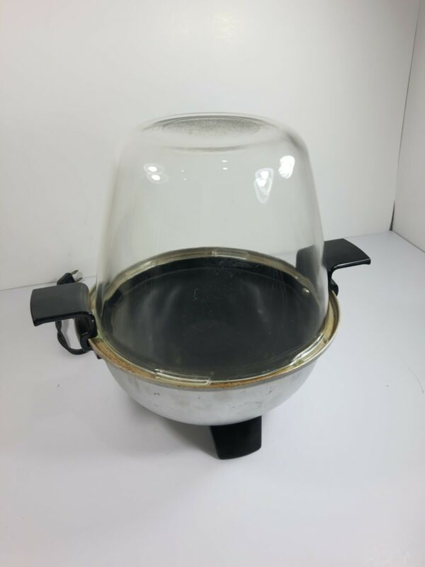 Vintage Robeson mod 654 Electric Corn Popper 4-Quart Glass Popper Dome with Box