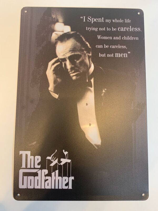 the godfather movie poster Tin Sign