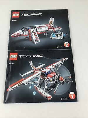 Lego 42040 Technic -Fire Department Planes Instruction Manual Books only