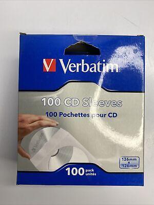 Verbatim 100 Cd Dvd Paper Sleeves W Clear Window 100 Pk