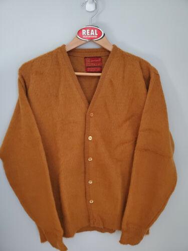 Vintage Sears Mohair Cardigan Cobain Sweater Fuzzy Grunge Men