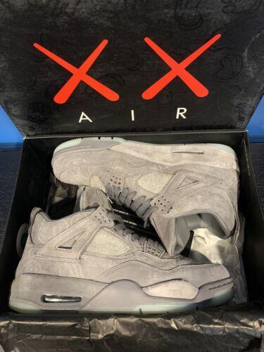 "Air Jordan 4 Retro ""KAWS"" (Read Desc, Size 10, OG All, Grey, glow, black)"