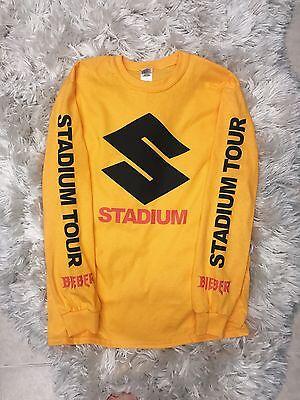 Justin Bieber Stadium Tour Gold Long Sleeve Tee Shirt Stadium Purpose Tour Merch