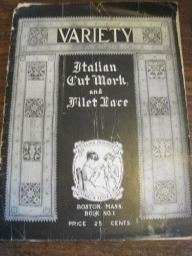 VARIETY Carmela Testa ORIG 1921 Instruction BK #1 on Italian Cutwork&Filet Lace