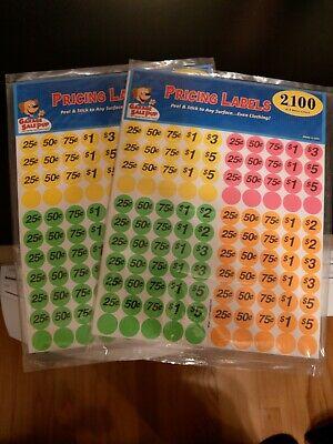 Garage Sale Price Stickers