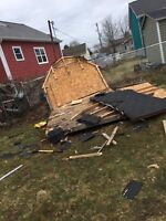 Super fast boys junk removal & demolition sheds/decks