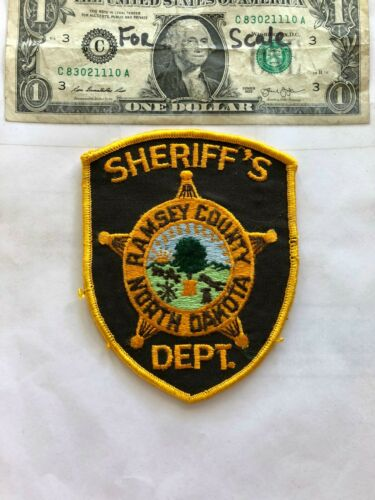 Ramsey County North Dakota Police Patch un-sewn in great shape