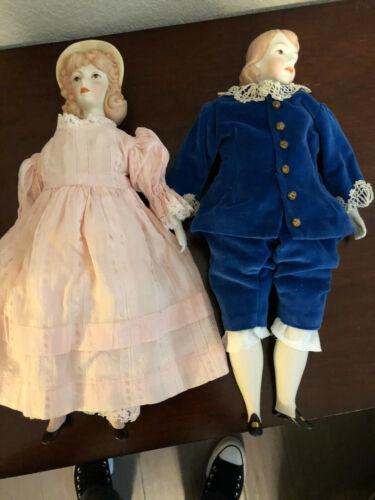 Blue Boy & Pinkie Porcelain Dolls