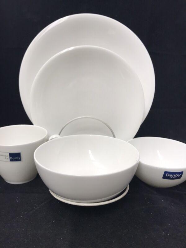 China By Denby 5 Piece - 2 Plates, 2 Bowls, Mug NEW