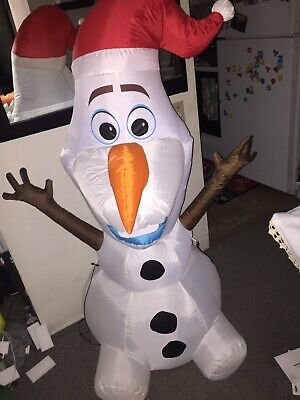 "Gemmy 5 ""Disney Olaf Snowman Frozen Christmas Airblown Inflatable Light Blow Up"