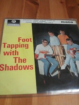 THE SHADOWS FOOT TAPPING WITH THE SHADOWS RARE 1963 ORIGINAL EP