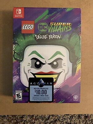 LEGO DC Super Villains Deluxe Edition - Nintendo Switch - Brand New Sealed