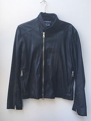 ANN DEMEULEMEESTER ICONIC Men's Size XS Black Leather Jacket F/W 2013