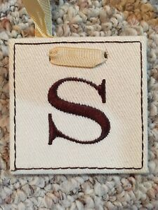 """Two Fabric and Ribbon Initials - Letter """"S"""""""