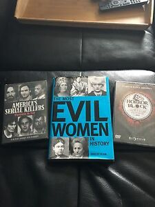 Evil Serial Killers Horror Dvds and Book