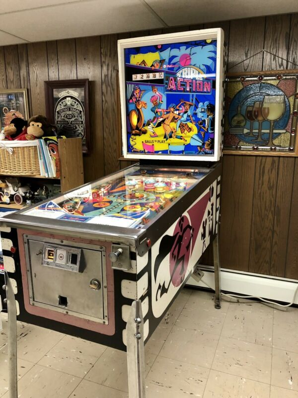 Rare 1974 Williams Triple Action Pinball Machine