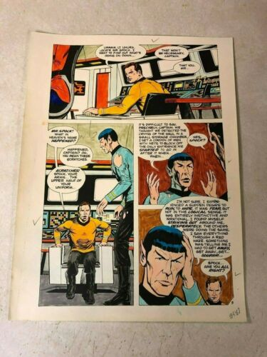 Star Trek original color guide ART 1975 Moauv SPOCK attacked by WAUL bridge KIRK