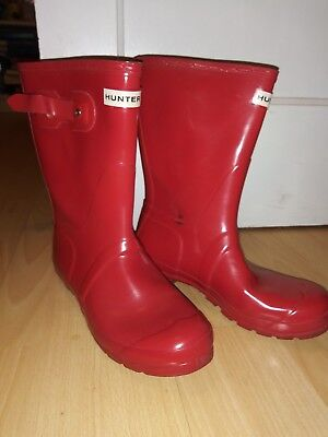 Hunter Women's Original Short Mid-Calf Rubber Rain Boot Size 8