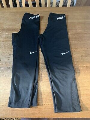Nike Pro Dri-Fit Black Capri Leggings ~ Size S Two Pairs Barely Used