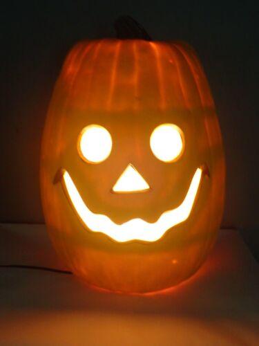 "20"" Foam Blow Mold Jack-o-Lantern Pumpkin Halloween Light"