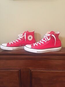 Red Converse Chuck Taylor High Tops - Mens Size 11