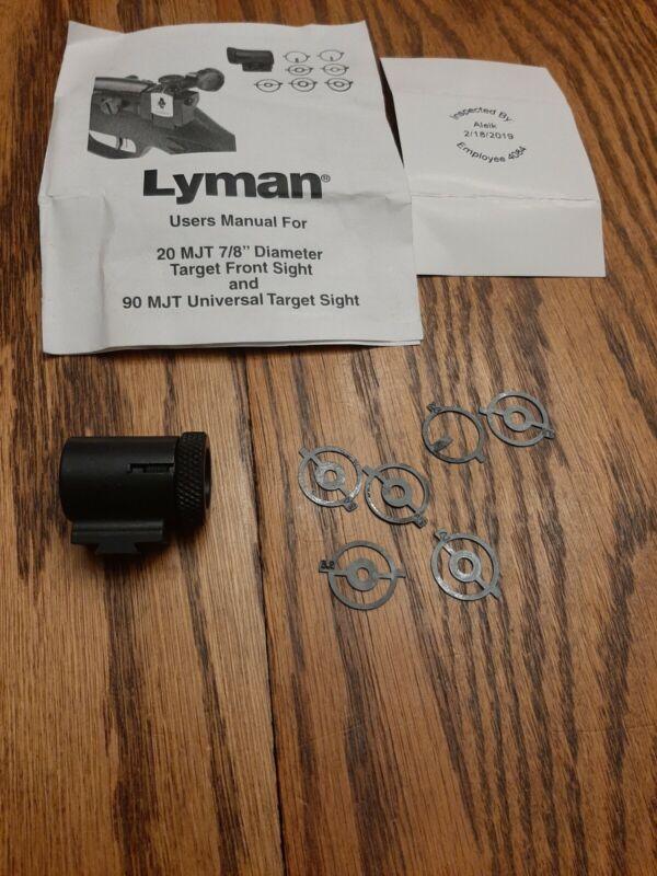 Lyman 20 MJT Front Globe Sight With Inserts