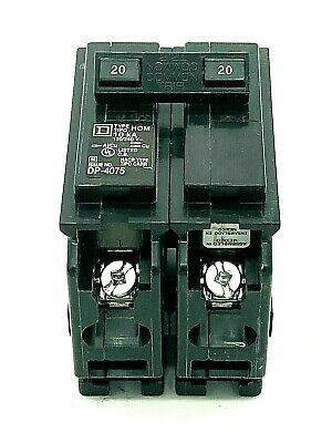 New Square D Hom220 Homeline 2 Pole 20amp 120240vac Plug In Molded Case Breaker
