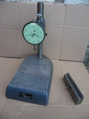 Vtg Mahr Federal Nb-61 Dial Indicator W Metal Comparator Stand .0001 Usa