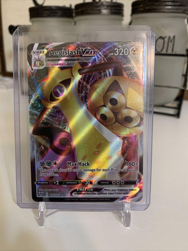 Aegislash Vmax 127/185 Vivid Voltage Holo Rare Pokemon Card Pack Fresh🔥📈🔥📈