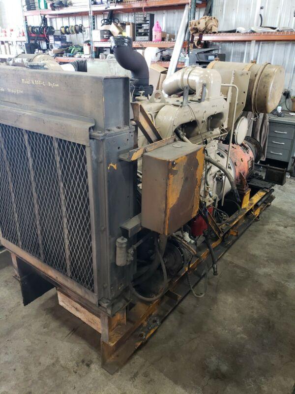 Cummins N855-C Big Cam Diesel Engine / Ge Dc Generator #558MW