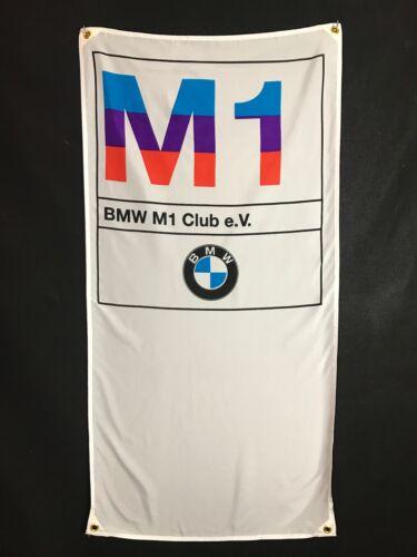 BMW M1 Banner Flag - MotorSport Alpina Hartge M5 Mtechnic M535i M6 Dtm E30 M3 Z3